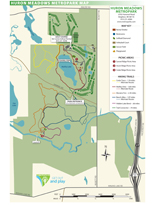 Huron Meadows Metropark Map