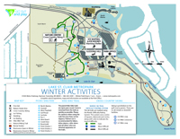Lake St.Clair Winter Activities Map