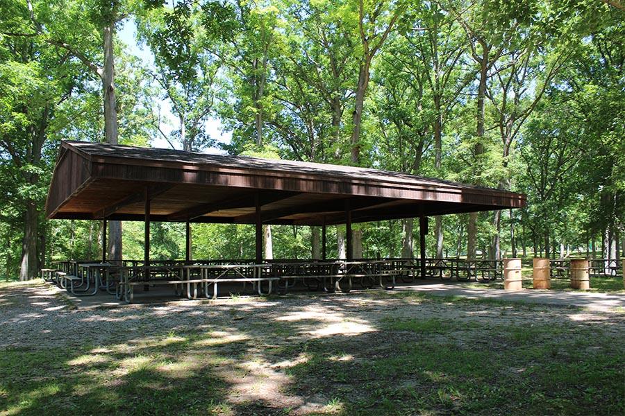 Hudson Mills Metropark Shelters