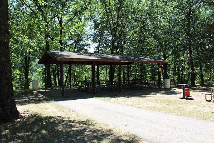 Huron Meadows Metropark Shelters