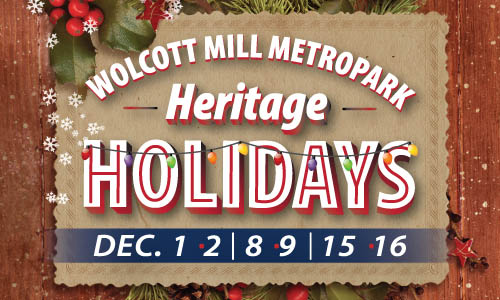 During Heritage Holidays, at Wolcott Mill Metropark, the entire Historic Center is transformed into a magical holiday wonderland. Click to Learn More.